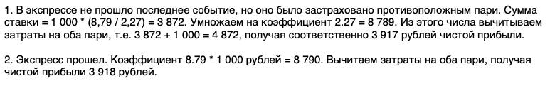 Формула противохода