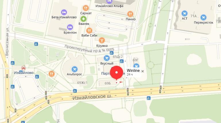 Winline - г. Москва, Ш. Измайловское, д. 69 Б, ст. метро Партизанская
