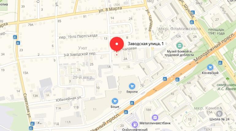 Ул. Заводская, д. 1