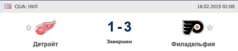 Результат матча