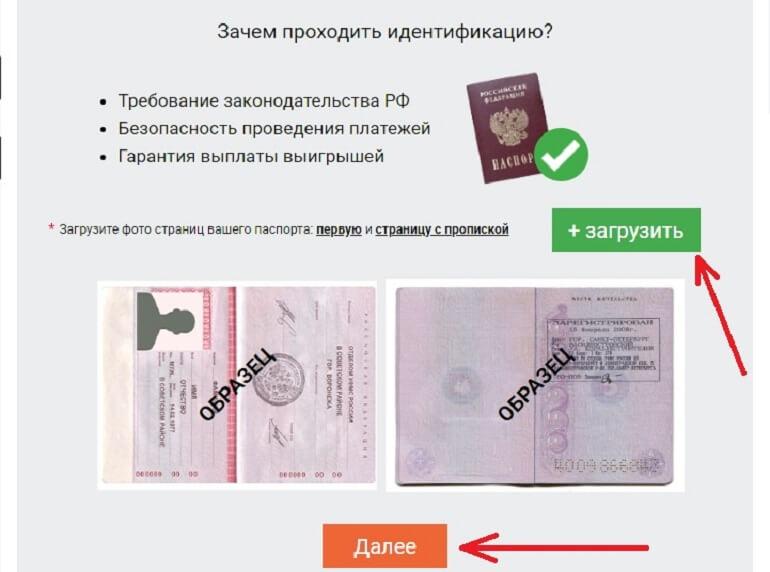 Загрузка паспорта