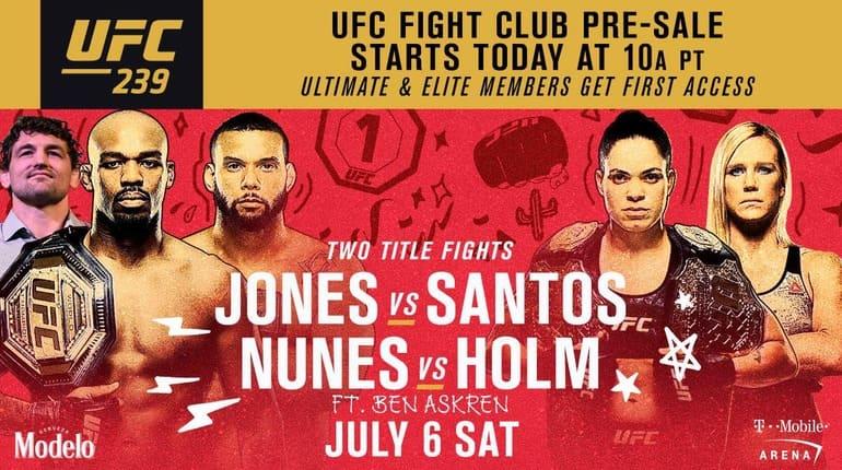 Анонс турнира UFC 239