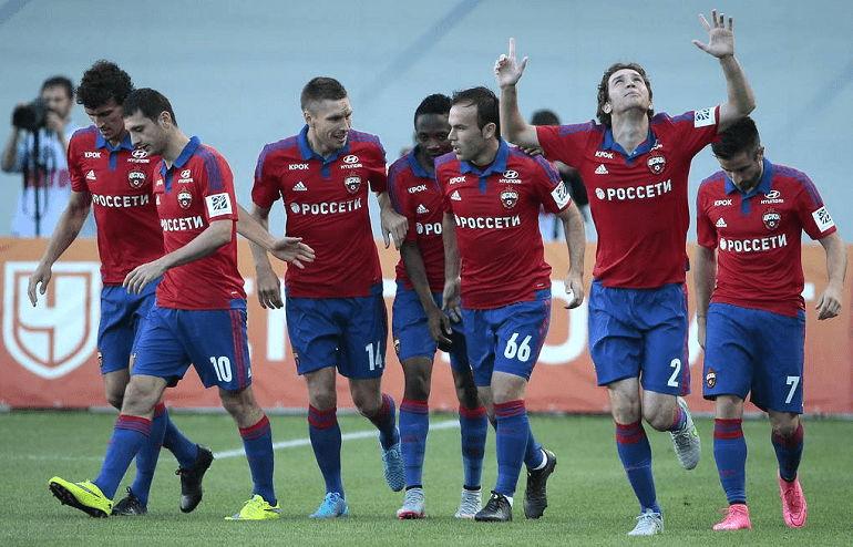 Футбольная команда ЦСКА Москва