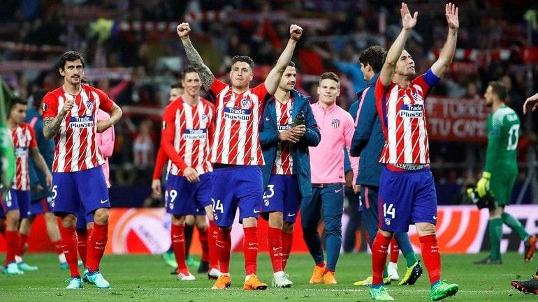 Футбольная команда Атлетико Мадрид