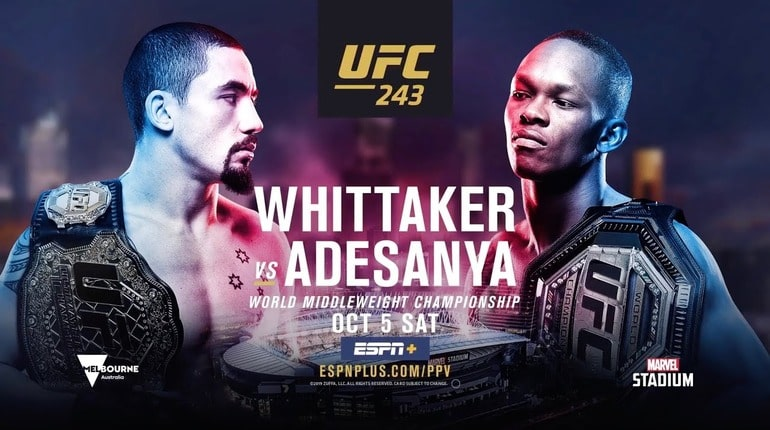 Анонс турнира UFC 243
