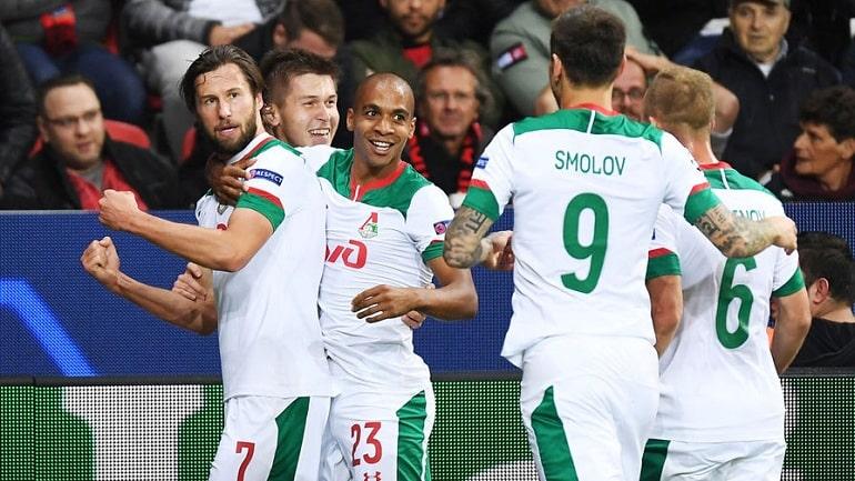 Локомотив выиграл Байер в Лиге Чемпионов