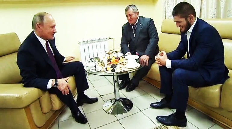 Путин и Нурмагомедов