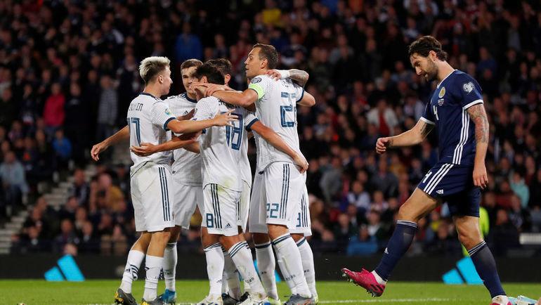 Россия обыграла Шотландию в отборе на Евро-2020