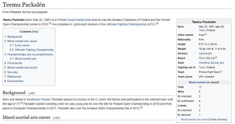 Статья о Теему в Википедии