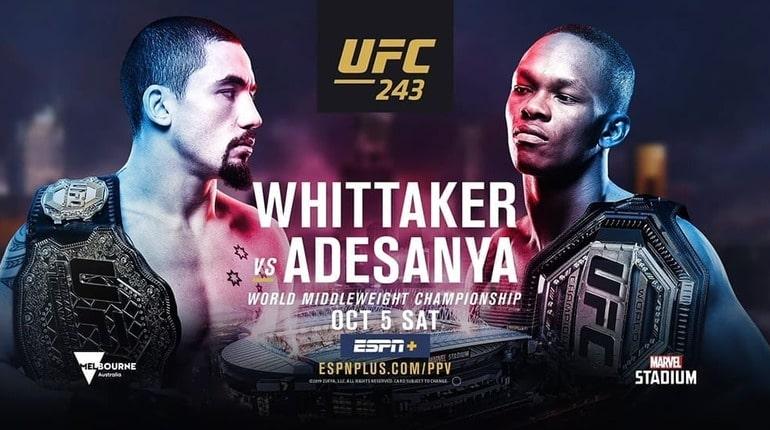 Обзор турнира UFC 243