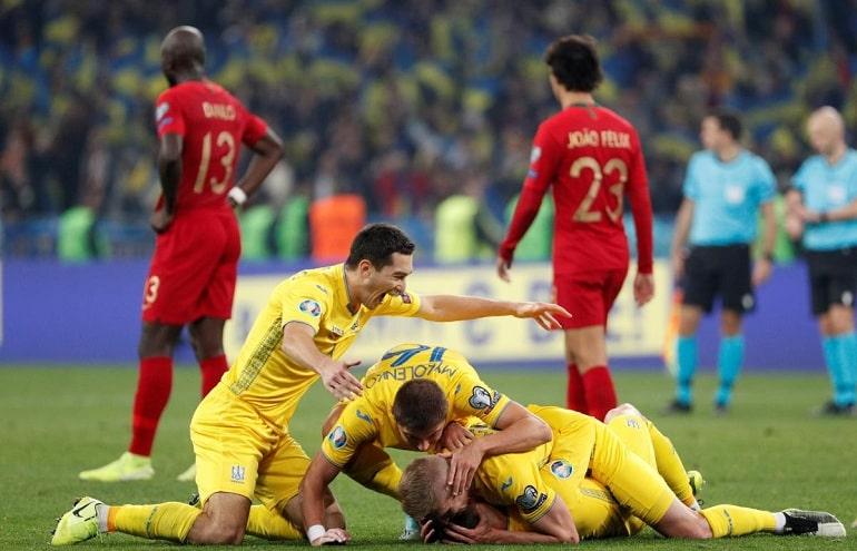 Сборная Украина выиграла у Португалии