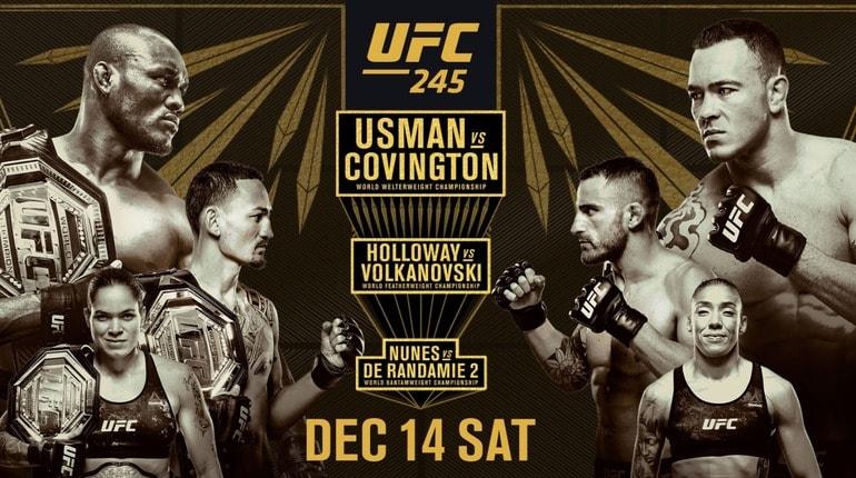 Обзор турнира UFC 245